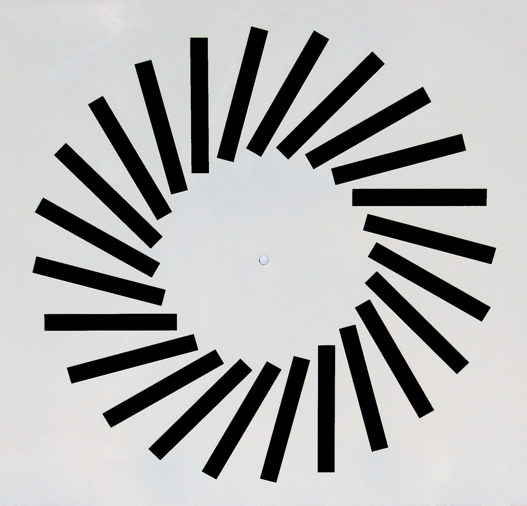 Adjustable blade swirl diffusers