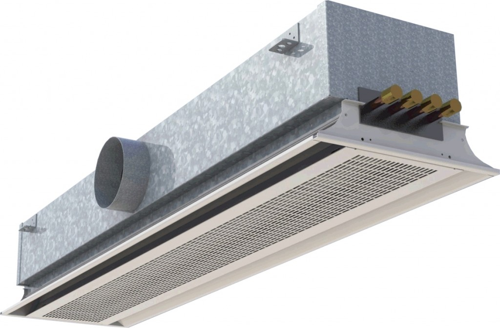 Active narrow induction Chilled Beams