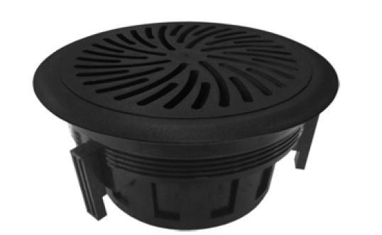Swirl floor diffuser